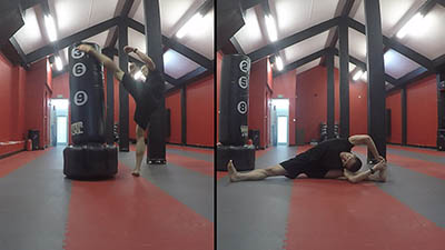 High Kicks et Stretching en Interval Training